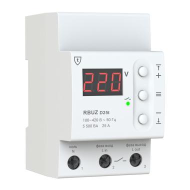 Реле напряжения - RBUZ D25t (25 А, термозащита)
