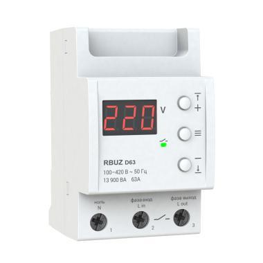 Реле контроля напряжения - RBUZ D63 (63А)