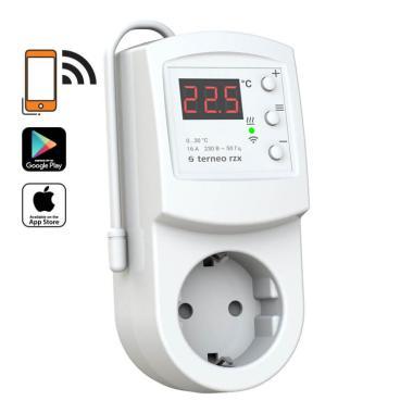 Терморегулятор - Terneo RZX (16 А, 3 кВт, Wi-Fi)