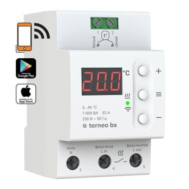 Терморегулятор - Terneo BX (32 А, 7 кВт, Wi-Fi)