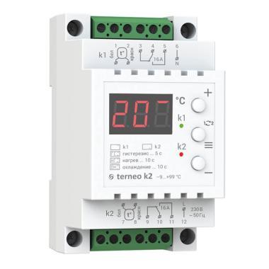 Терморегулятор - Terneo K2 (2x16 А, 2x3 кВт)