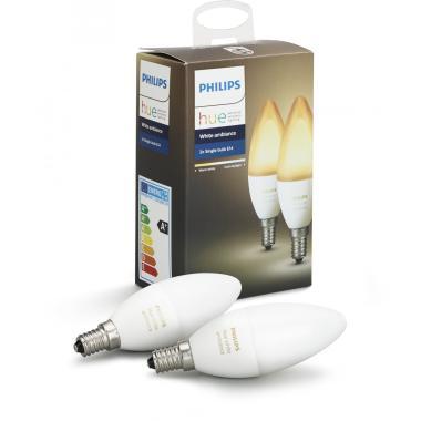 Комплект умных ламп Philips Hue White ambiance E14