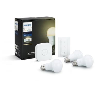 Комплект умных ламп с блоком управления и диммером Philips Hue White E27